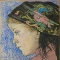 """Stanisław Wyspiański """"Portret dziewczynki"""", 1904, pastel na papierze"""